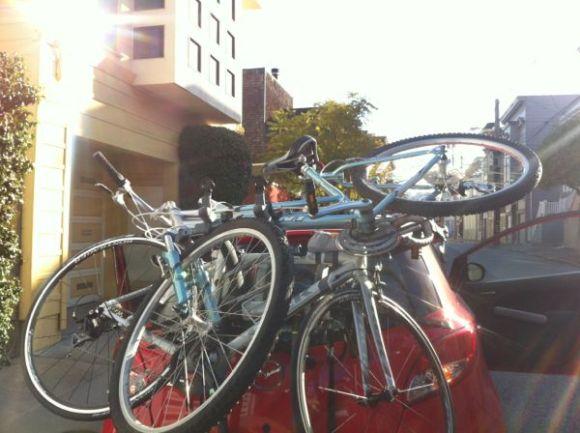 bikes on a Mazda 2