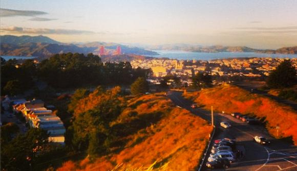 Golden Gate Bridge from Twin Peaks